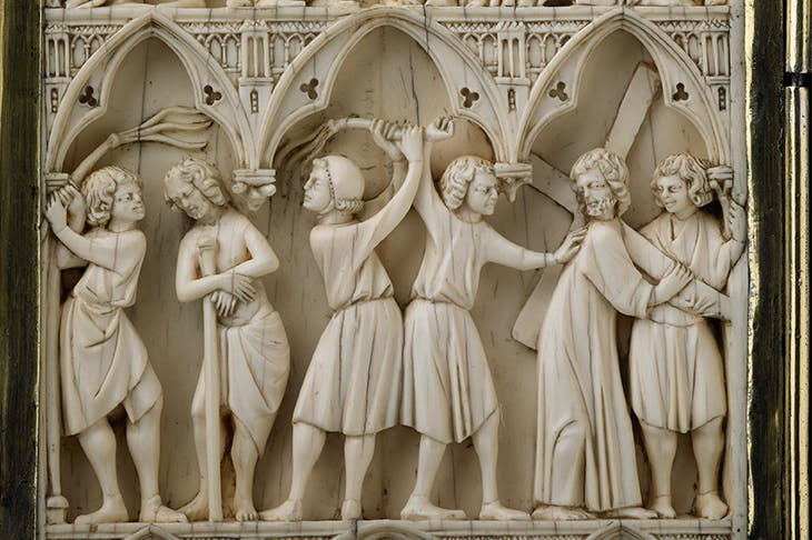 Diptych with scenes of the Passion (detail), (late 13th century). Wallace Collection.