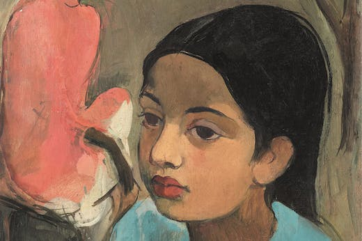 The Little Girl in Blue (detail; 1934), Amrita Sher-Gil. Sotheby's Mumbai, INR18.7 crore