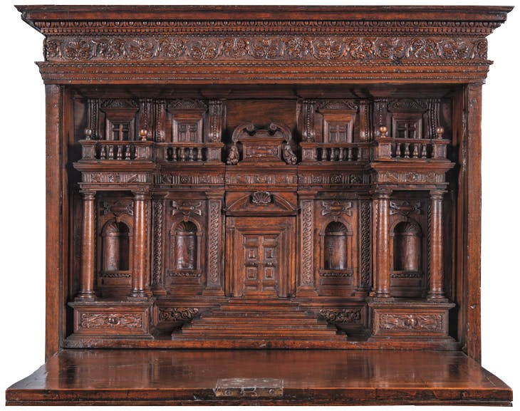 Architectural cabinet (with outer door open; 16th century),