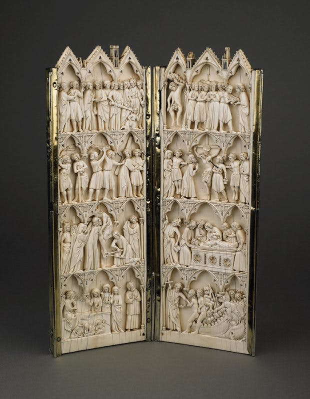 Diptych showing scenes from the Passion (late 13th century). Wallace Collection.