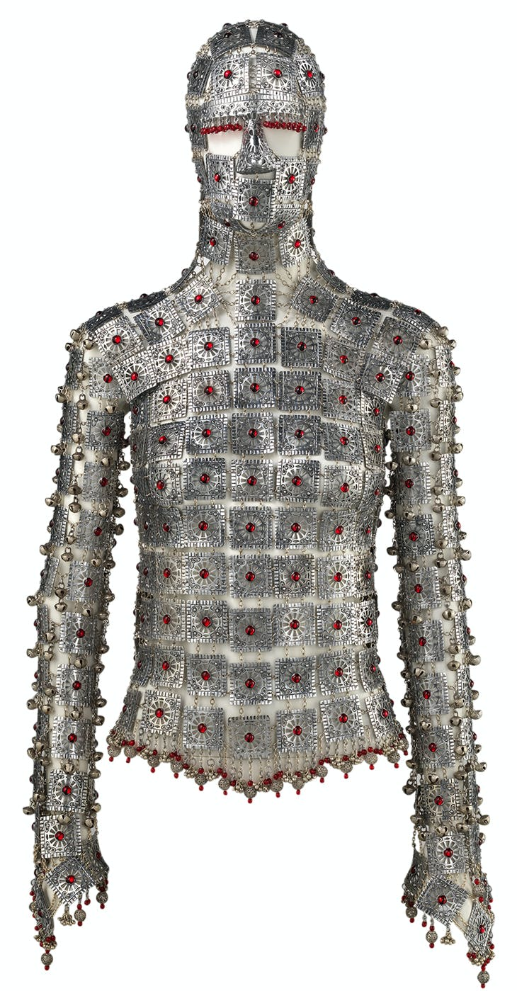 Yashmak (2000; edition from 2017), designed by Shaun Leane for Alexander McQueen. Metropolitan Museum of Art, New York