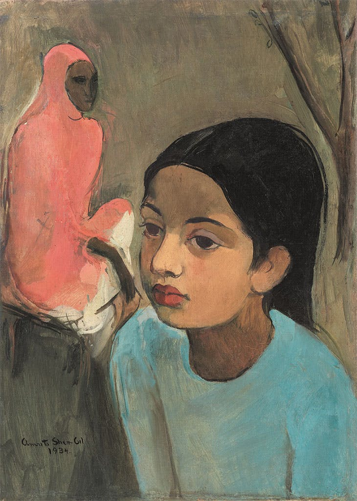 The Little Girl in Blue (1934), Amrita Sher-Gil. Sotheby's Mumbai, INR18.7 crore