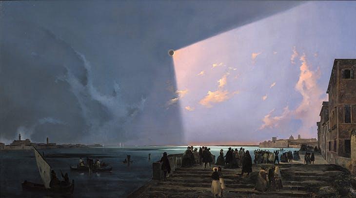 Solar Eclipse at the Fondamenta Nuove (1842), Ippolito Caffi