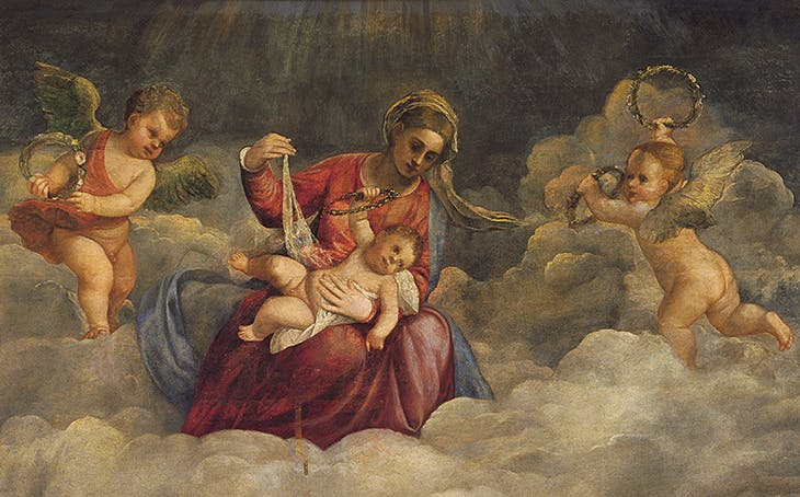 Virgin with Child and Saints (detail; c. 1523–34), Titian. Vatican Museums.