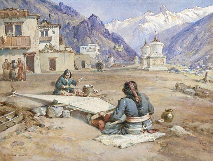 A Tibetan Weaver (1895), William Simpson.
