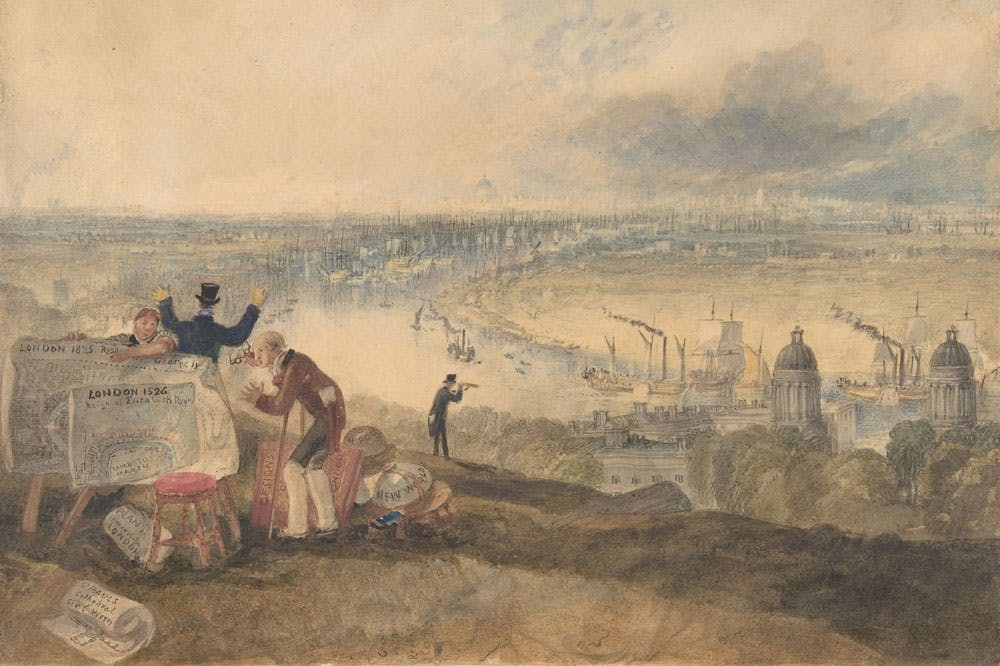 View of London from Greenwich (1825), Joseph Mallord William Turner. Metropolitan Museum of Art, New York