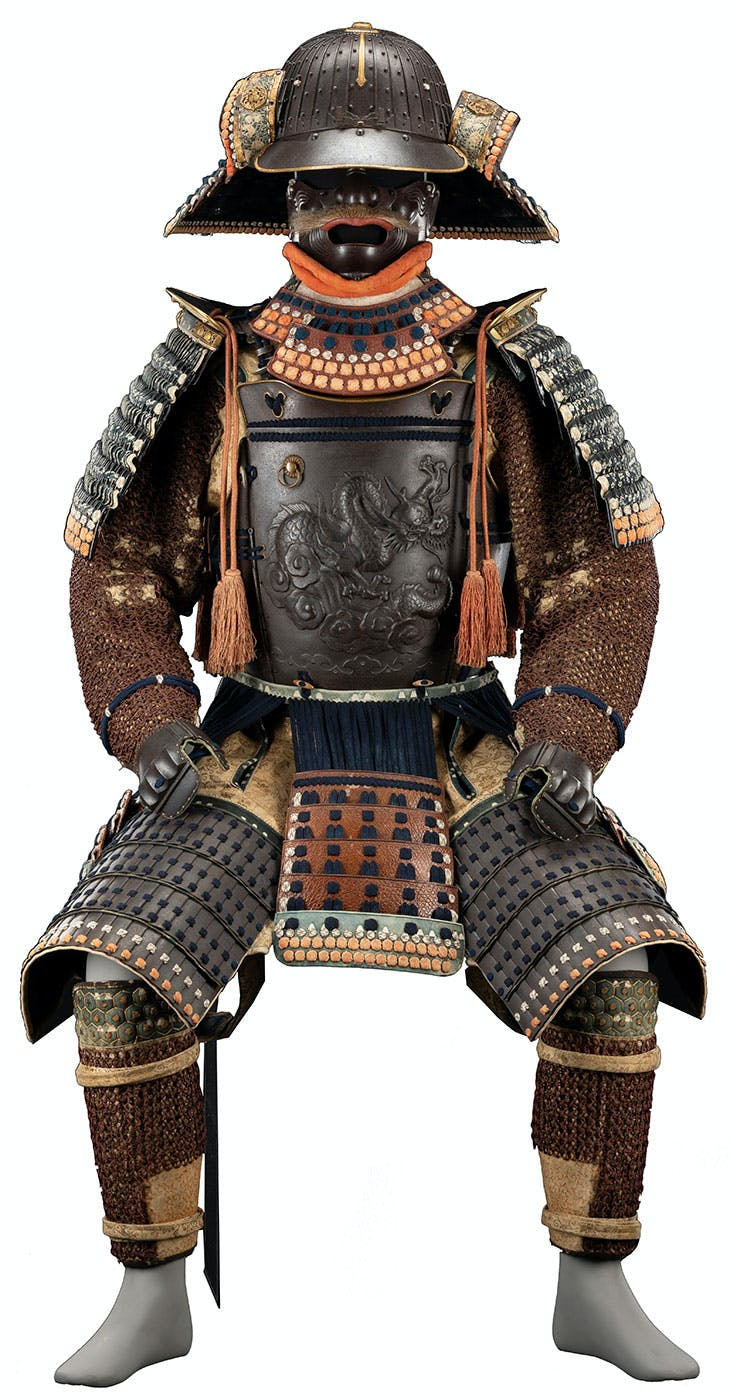 Samurai armour (early 19th century), Japan. National Museums Scotland