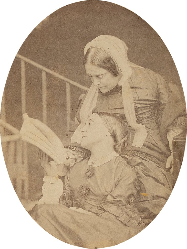 Portrait of Christina and Frances Rossetti (1863), Charles Lutwidge Dodgson (Lewis Carroll), University of Delaware Library
