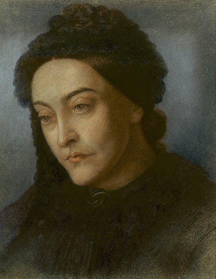Portrait of Christina Rossetti (1877), Dante Gabriel Rossetti
