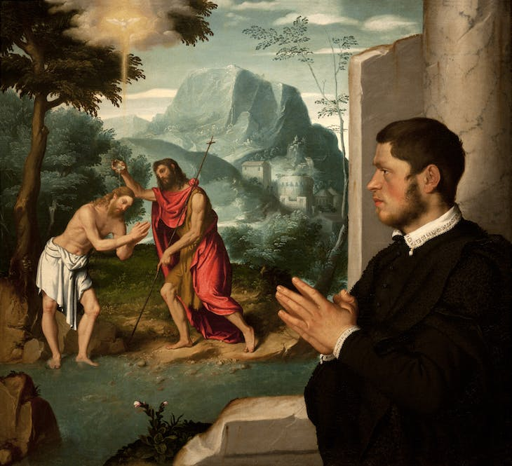 Gentleman in Contemplation of the Baptism of Christ, Moroni