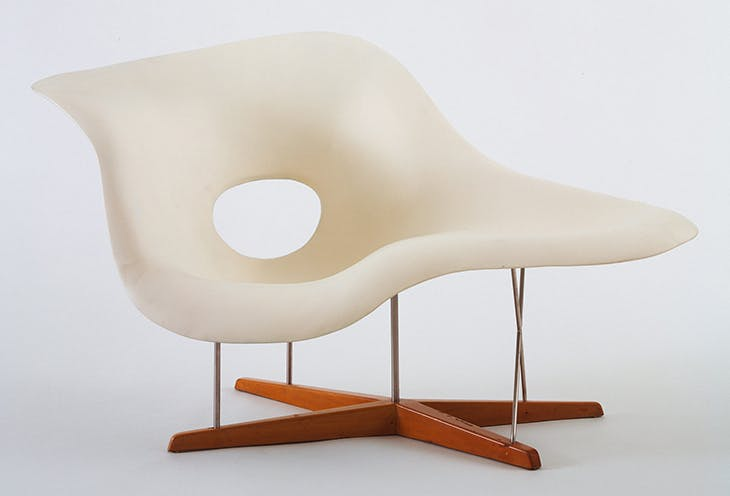 Prototype for Chaise Longue (La Chaise) (1948), Charles Eames and Ray Eames