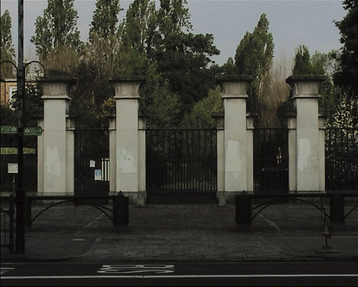 Still from A PUBLIC LECTURE & EXHUMATION (2006), Elizabeth Price.
