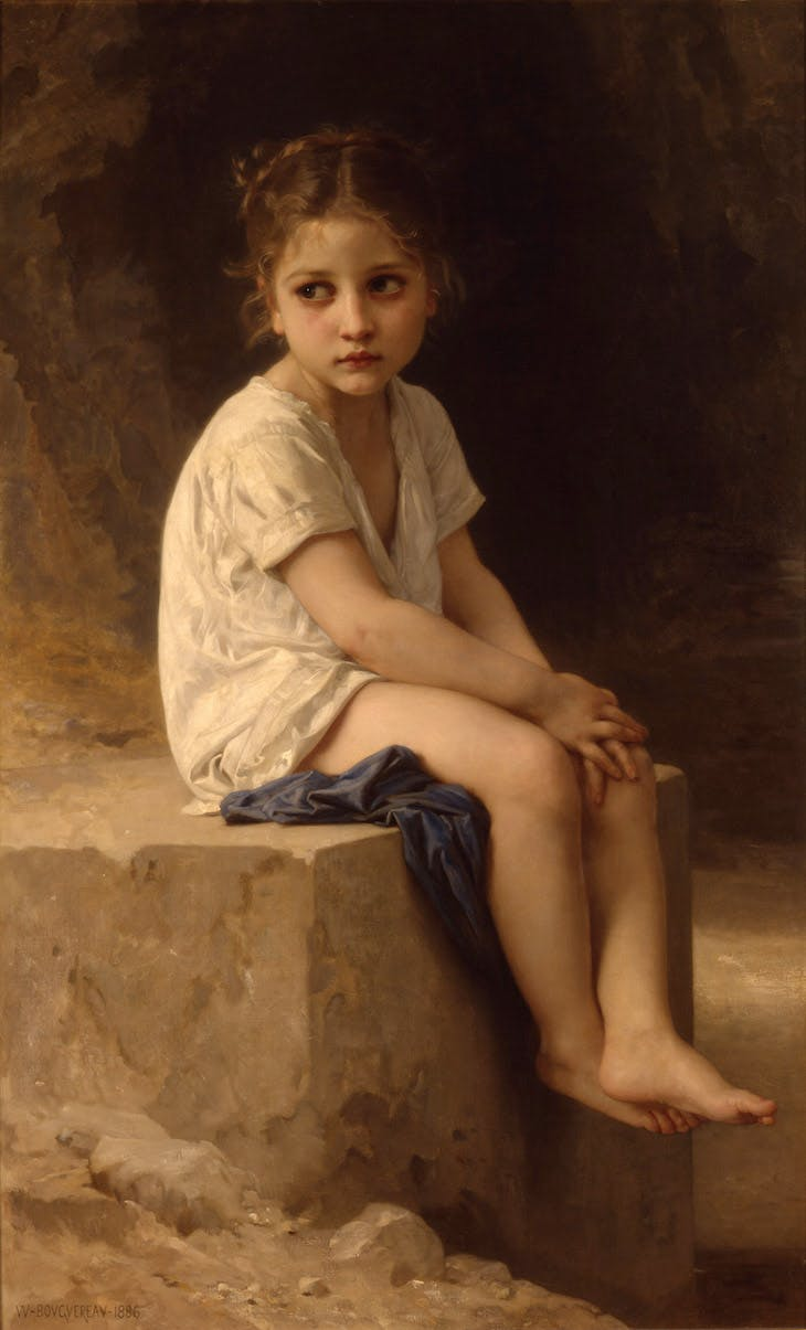 At the Foot of the Cliff, Bouguereau