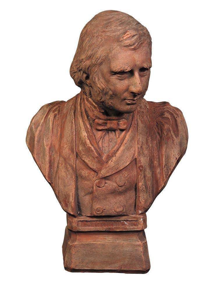 Portrait Bust of John Ruskin (1887), Benjamin Creswick.