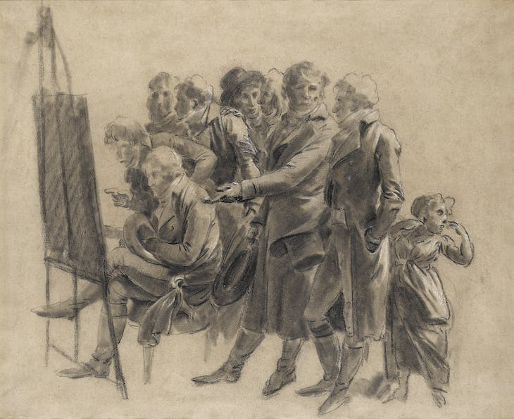 The Meeting of Artists in Isabey's Studio, Boilly