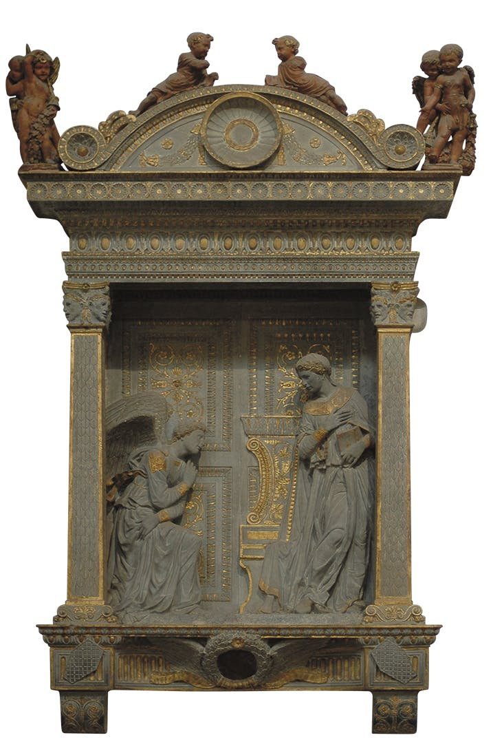 Cavalcanti Annunciation(c. 1428–33), Donatello. Santa Croce, Florence