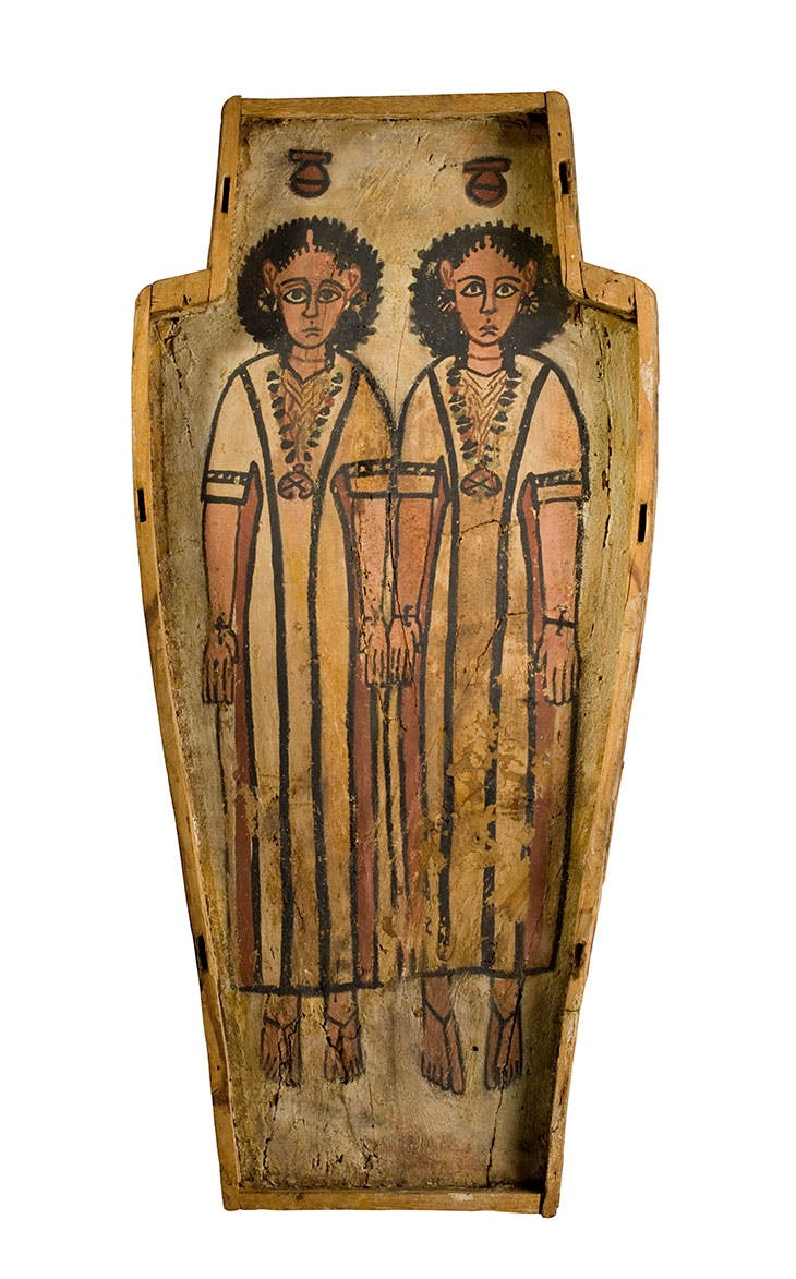 Double coffin from Thebes, Roman Period. National Museums Scotland