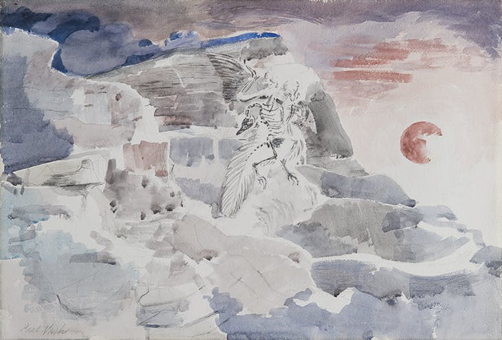 Ghost in the Shale (1942), Paul Nash. John Creasey Museum, Salisbury.