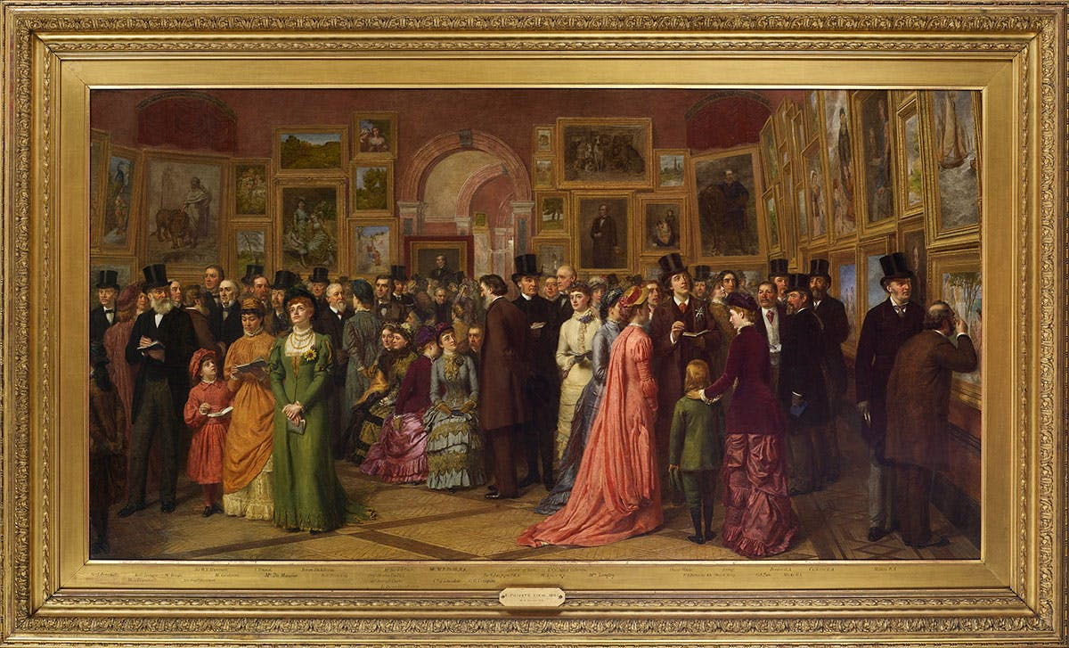 The Private View at the Royal Academy, 1881 (detail; 1881–83), William Powell Frith.