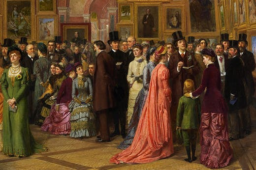The Private View at the Royal Academy, 1881 (1881–83), William Powell Frith.