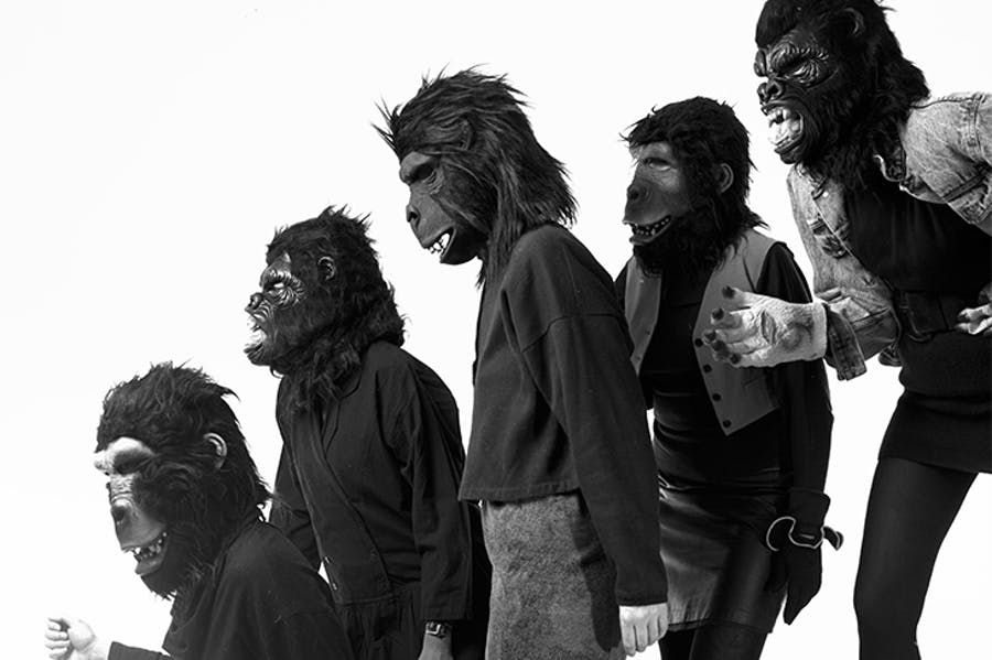 The anonymous Guerrilla Girls, artists and activists, photographed in 1990.