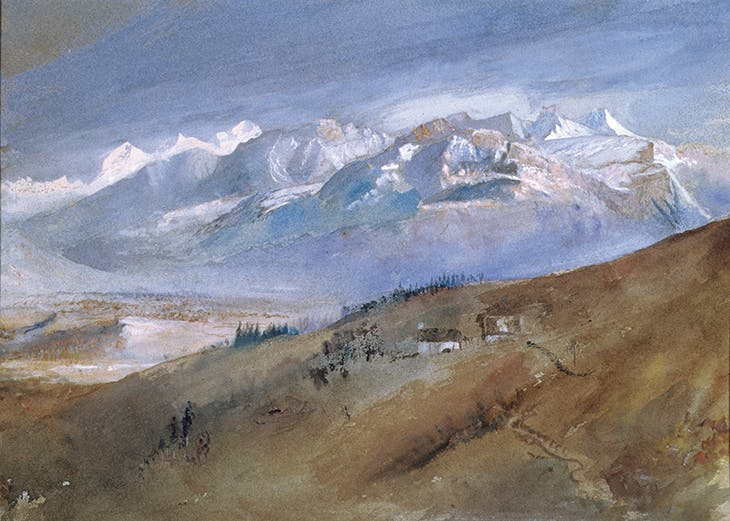 The View from My Window, Mornex (1862), John Ruskin. Lakeland Arts