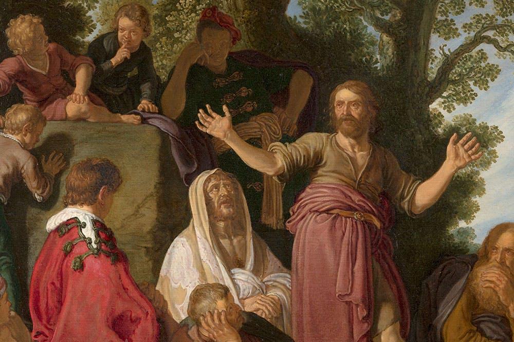 St John the Baptist Preaching (detail; 1627), Pieter Lastman.