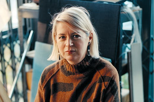 Elizabeth Price, photographed at her studio in London in December 2018, portrait by Tereza Červeňová