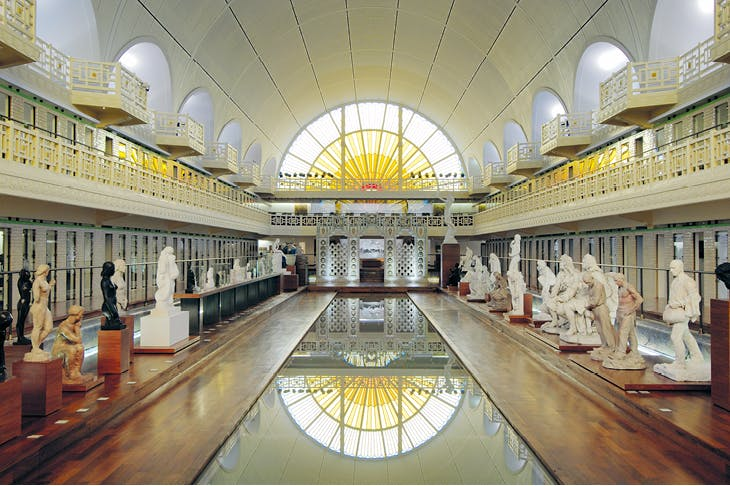 The central space of La Piscine - musée d'art et d'industrie André Diligent, Roubaix, housed in the pool complex designed by Albert Baert and completed in 1932.