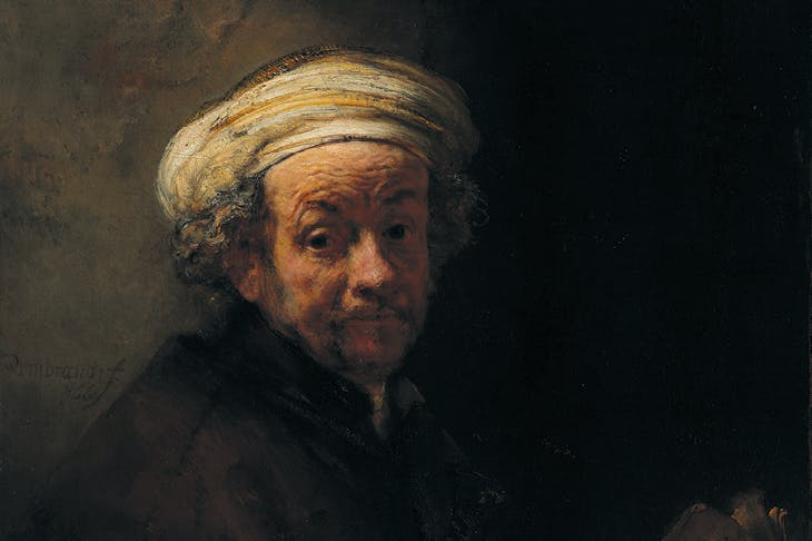 Self Portrait as the Apostle Paul (detail; 1661), Rembrandt van Rijn. Rijksmuseum, Amsterdam