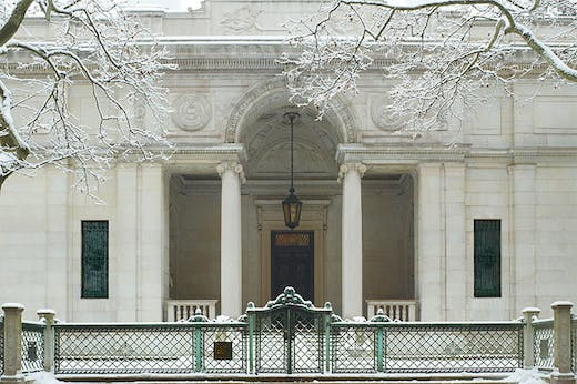 J. Pierpont Morgan's Library in winter, 2011, Morgan Library & Museum.