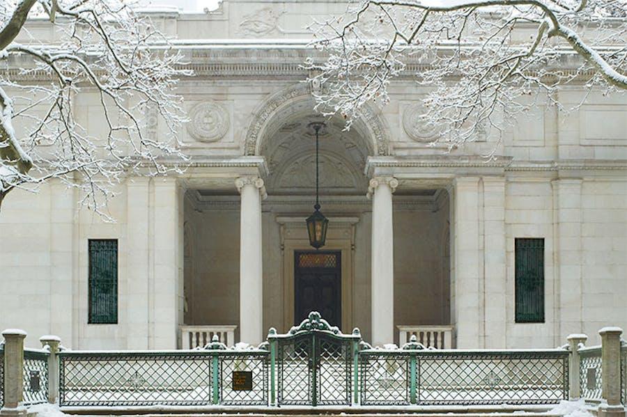 J. Pierpont Morgan's Library in winter, 2011, Morgan Library & Museum.