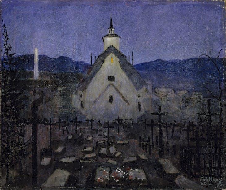 Night, Røros Church, Sohlberg
