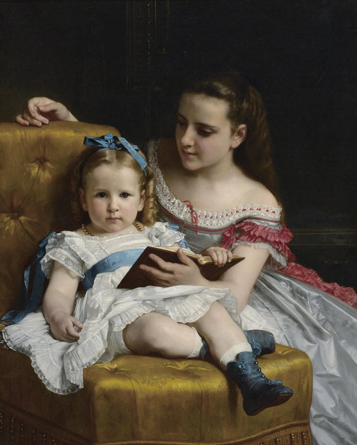 Portrait of Frances and Eva Jonhston, William Adolphe-Bouguereau