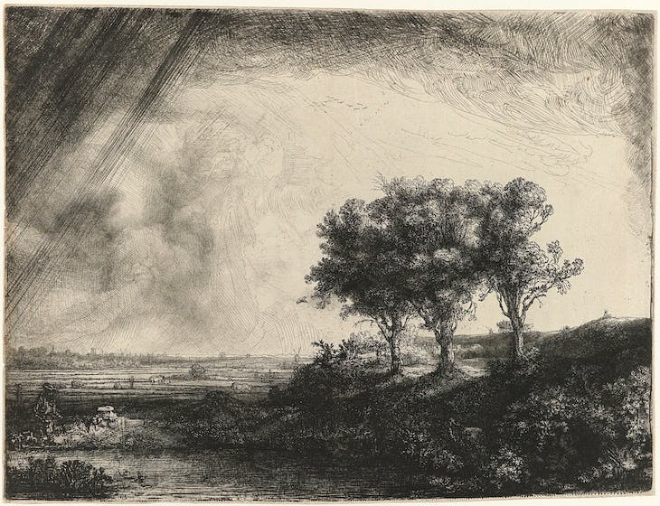 The Three Trees, Rembrandt