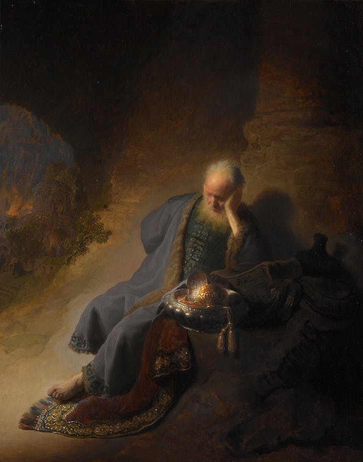 Jeremiah Lamenting the Destruction of Jerusalem, Rembrandt