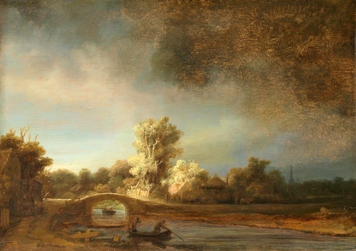 Landscape with a Stone Bridge, Rembrandt