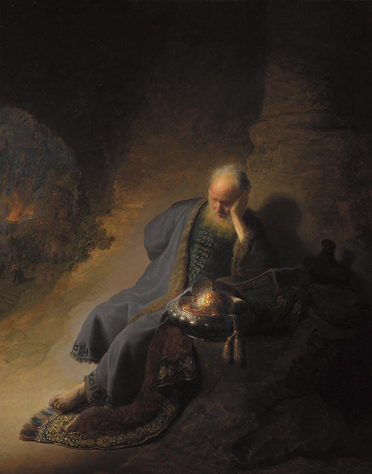 Jeremiah Lamenting the Destruction of Jerusalem (1630), Rembrandt van Rijn. Rijksmuseum, Amsterdam