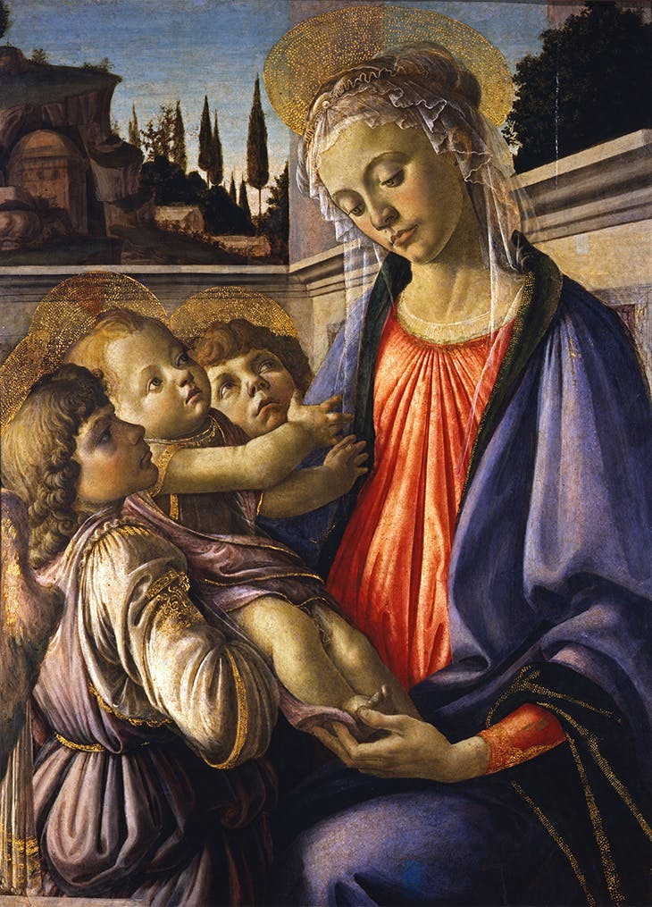 Madonna and Child with Two Angels (c. 1468), Sandro Botticelli.