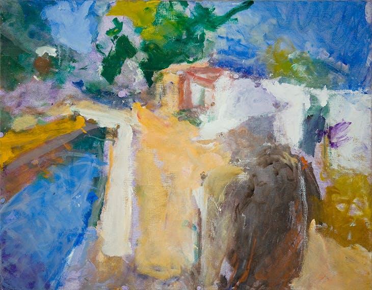 Bonnard Drawing on the Pink Path (2009), Sargy Mann