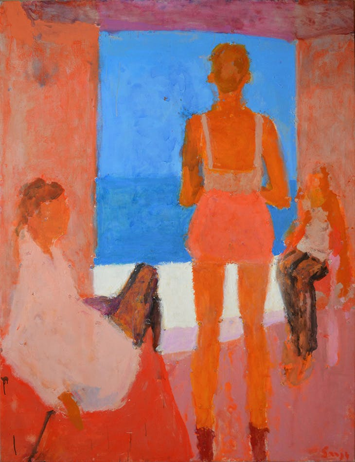 Three Figures by the Sea (2014), Sargy Mann