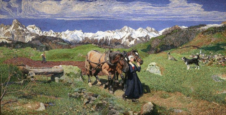 Spring in the Alps, Segantini