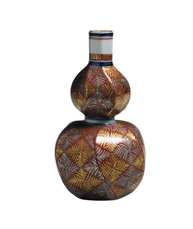 Gourd-shaped vase (after 1952), Tomimoto Kenkichi. Joan B. Mirviss (up to $200,000), photo: Richard Goodbody