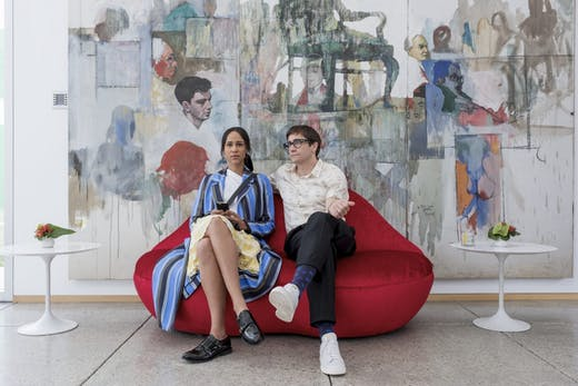 Zawe Ashton and Jake Gyllenhaal in Velvet Buzzsaw.