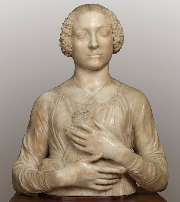 Bust of a Lady (Lady with Flowers) (c. 1455), Verrocchio.
