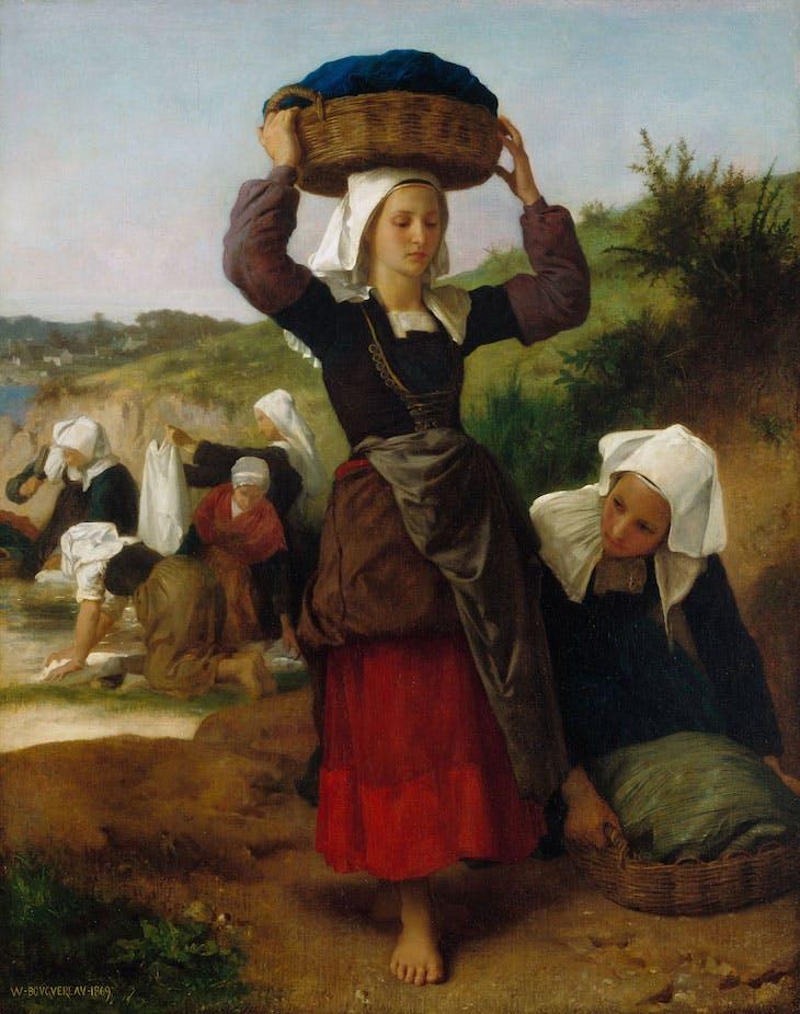 Washerwomen of Fouesnant, William-Adolphe Bouguereau