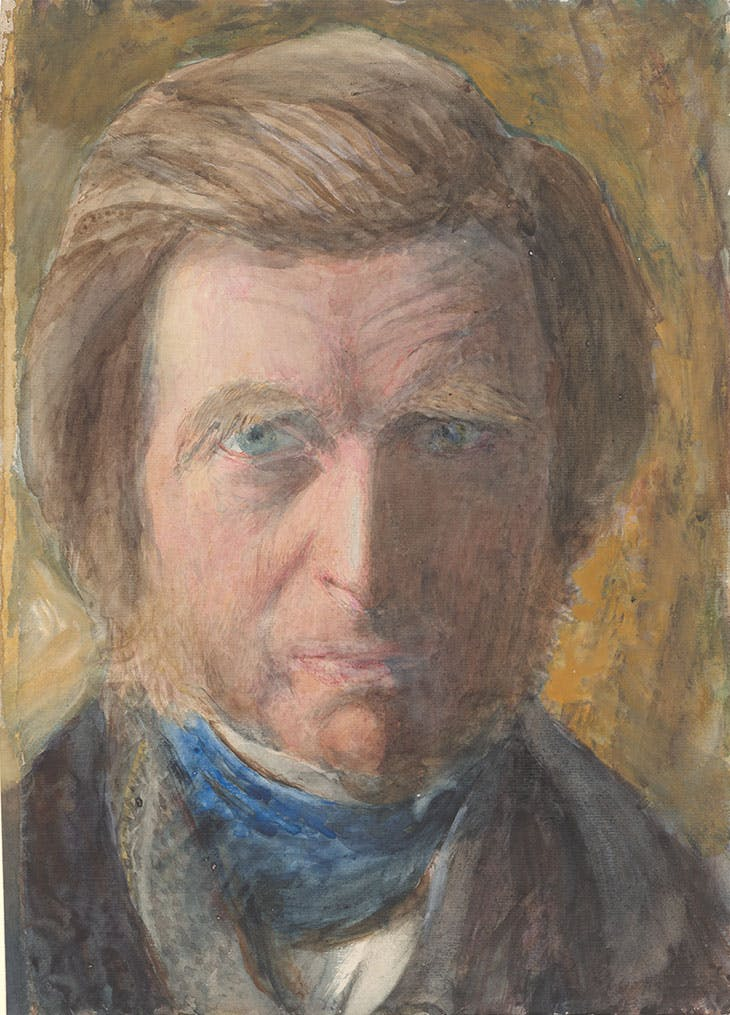 Self-Portrait, in Blue Neckcloth (1873), John Ruskin. Morgan Library & Museum, New York.