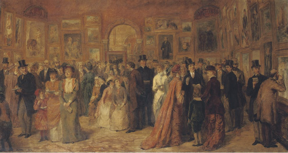 Sketch for The Private View (1882), William Frith Powell. Mercer Art Gallery, Harrogate Museums.