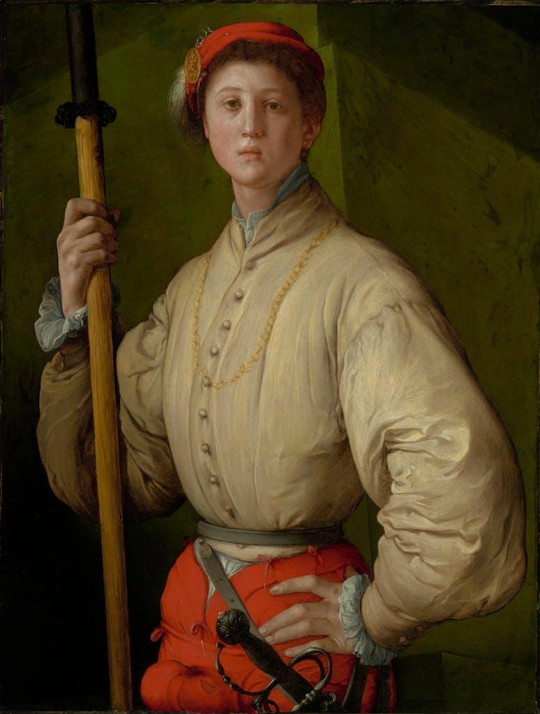 Portrait of a Halberdier (Francesco Guardi?) (1528–30), Jacopo Carucci, known as Pontormo. The J. Paul Getty Museum, Los Angeles