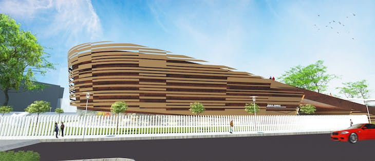 Render of the John K. (JK) Randle Centre for Yoruba Culture and History.